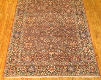 Antique Persian Tabriz Or Sarouk Rug Size 5'9''x10'1''