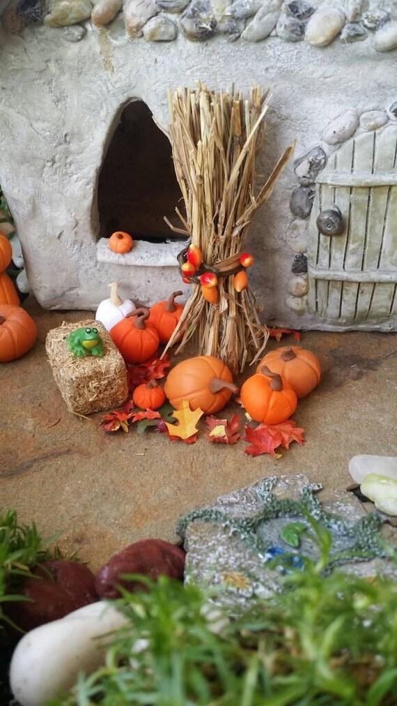 Items Similar To Fairy Garden Fall Scene Fall Halloween