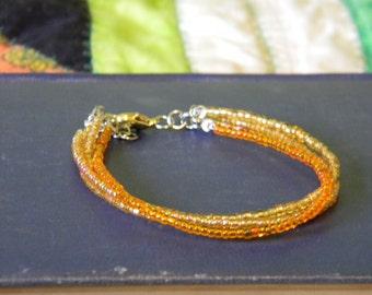 Shades of Yellow beaded bracelet