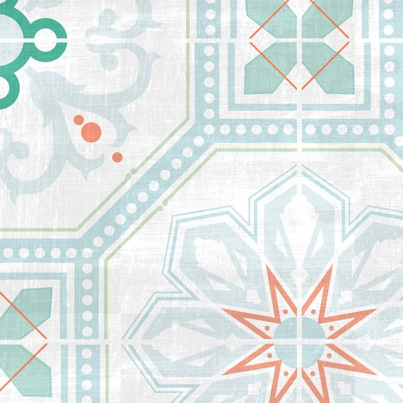 Peel and stick removable zellige tile wallpaper by arttribute for Orange peel and stick wallpaper