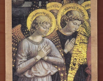 Angels, by Benozzo Gozzoli, Italian Renaissance painter from Florence.FREE SHIPPING