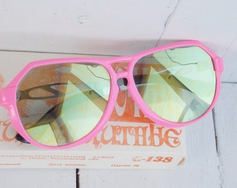 Soviet Vintage Sunglasses Made in USSR 1980s sunglasses Women sunglasses Soviet Sunglasse s Sunglasses For her Retro Pink sunglasses
