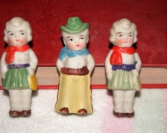 Japanese penny doll 3 Cowboy and cowgirls