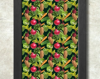 Vegetables Pattern Poster Print A3+ 13 x 19 in - 33 x 48 cm Buy 2 Get 1 Free