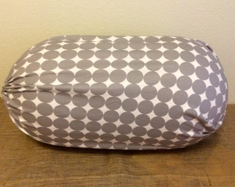 Peanut Ball Cover with Handle, Exercise/Yoga Ball Cover, Birthing Peanut Ball Cover, Ball Cover - GREY DOT PEANUY
