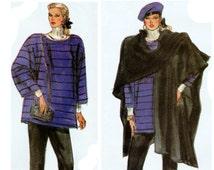 1980s Maternity Wear, Maternity Pattern, Vogue 7028 sz 8-12 b 31.5-34 UNCUT, Maternity Top, Maternity Pants, Cape Pattern, Shawl Pattern