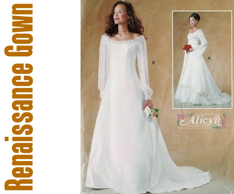 Empire waist wedding dress patterns