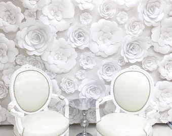 Backdrop Paper Flower Wall Kit Camellia  with Color Option