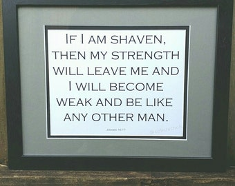Beard Printable. Judges If I am Shaven Bible Verse