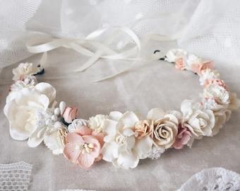 Bridal crown, Floral crown, wedding flower crown, flower crown, wedding crown, floral head wreath, boho hair accessories,