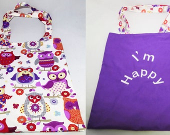 Tote Bag reversible bag race