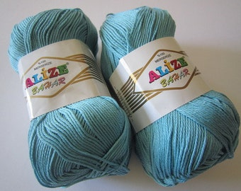 BAHAR Alize 100% Merserized Cotton yarn for crochet and knitting 100g - 260m