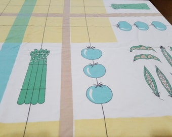 50s Veggie Table Cloth