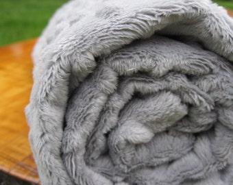 Grey Minky Fabric by the Yard by Shannon Fabrics