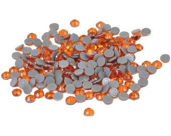 Silhouette Orange Rhinestones