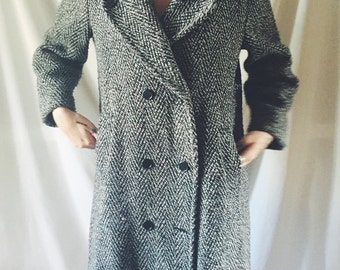 Vintage long line double breasted coat