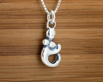 Mother and Child  Baby Pendant - STERLING SILVER- Chain Optional
