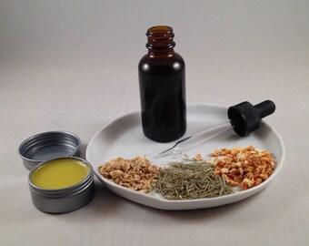 Vitalizing - Lemongrass Sweet Orange Ginger Lip Balm - Natural Vegan Skincare
