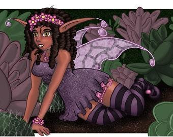 Fairy Garden Art Card Print