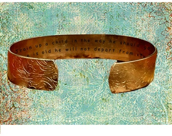 """Proverbs 22:6 Train up a child in the way he should go, Even... 