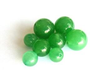10 Green Aventurine beads 10mm Ø PCH084. fine gem semi precious stone