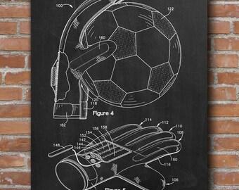Soccer Goalkeepers Glove Patent, Soccer Prints, Soccer Posters, Soccer Art - DA0407