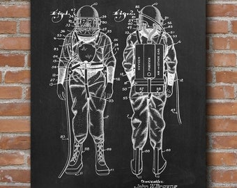 Diving Suit Patent Print, Diving Suit Patent, Nautical Decor, Gift for Diver, Patent Poster - DA0424
