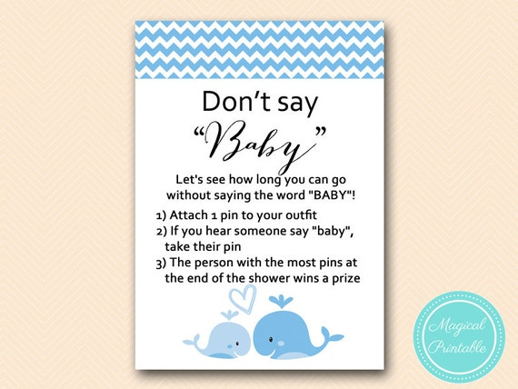 baby diaper pin game clothespin game blue whale baby shower games