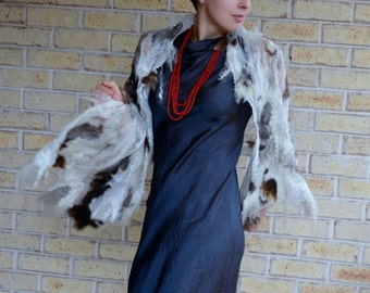 Shaman Shawl (Dappled) felted wooly wild wrap textured palanquin furry scarf