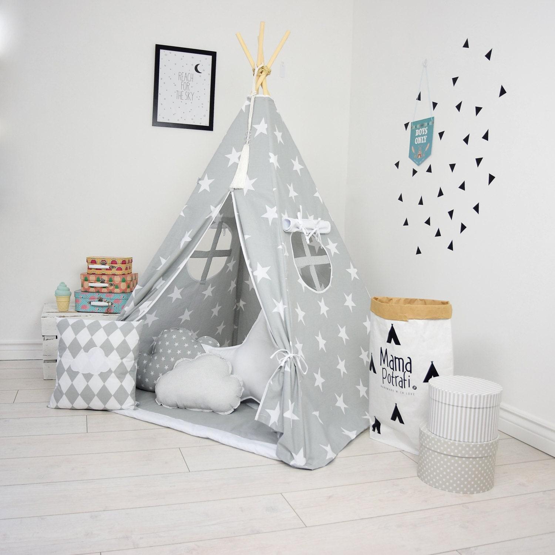 teepee set kids play tent tipi kid play teepee child teepee. Black Bedroom Furniture Sets. Home Design Ideas