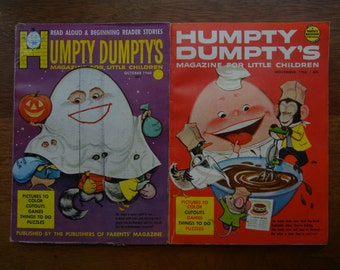 Humpty Dumpty Magazines ~ 2 Issues from 1960 ~ October and November