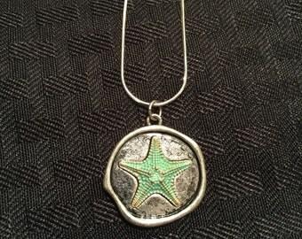 Turquoise Starfish Pendant Necklace