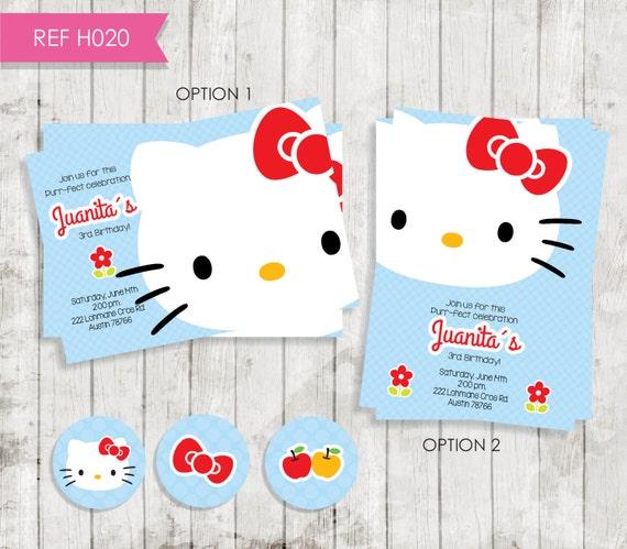 Hello Kitty Birthday Invitation Invitation By CreativaDesignCo