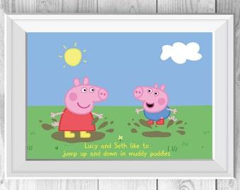 Personalised Peppa Pig Print