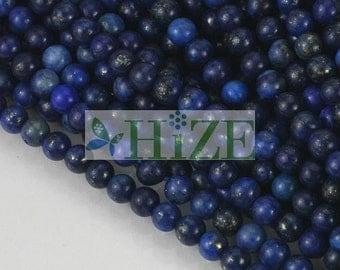 "HIZE GLL10 Lapis Lazuli Little Round Beads 3.5mm (15 1/2"")"
