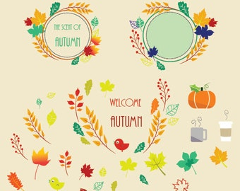 Fall and Autumn Leafs Vector Set