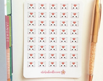 Kawaii Envelope Planner Stickers