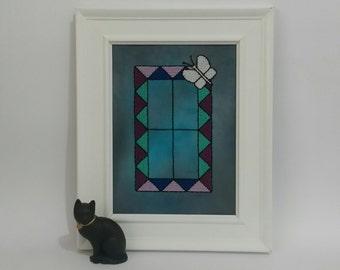 Twilight - Stained Glass Cross Stitch Pattern Pdf