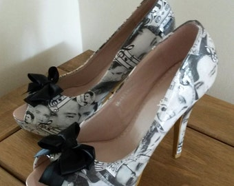 Elvis Presley customised decoupage shoes
