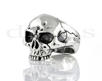 Skull Ring - Large Rustic Half Skull