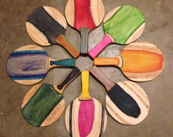 Recycled Skateboard Ping Pong Paddle