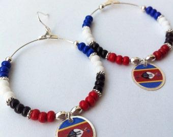 Swaziland Flag Earrings