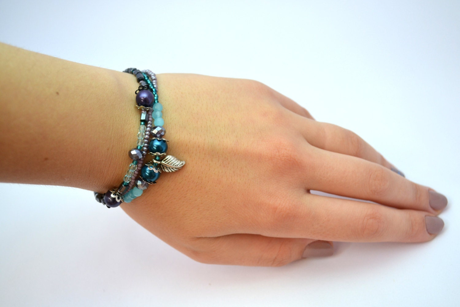 simply bracelet bangle baby leilani sea small blue products beachy glass all beach blues