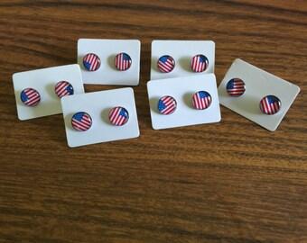american flag earrings.