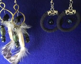 Hand made Alaskan Native earrings