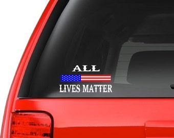 All Lives Matter (M39) USA Vinyl Sticker Car/truck American Window Decal