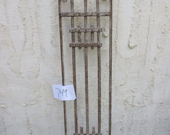 Antique Victorian Iron Gate Window Panel Fence Architectural Salvage #749