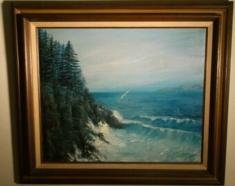 SALE No. Calif Oregon Wash state beautiful Coastal seascape Vintage Ann Marie Campbell 1975