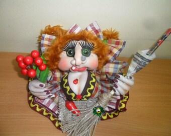 """Hand made rag doll """"Baba Yaga"""""""
