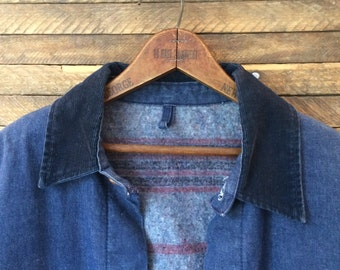 Blue Bell Denim Blanket-Lined Chore Coat - Medium